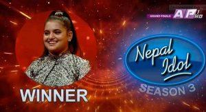 नेपाल आइडल सिजन –३ को विजेता बनिन् सज्जा चौलागाई
