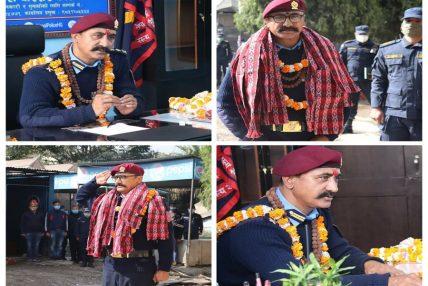 काठमाडौ प्रहरी परिसरमा एसएसपी अशोक सिंह