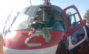 उडिरहेको हेलिकप्टरमा चील ठोक्किएपछि