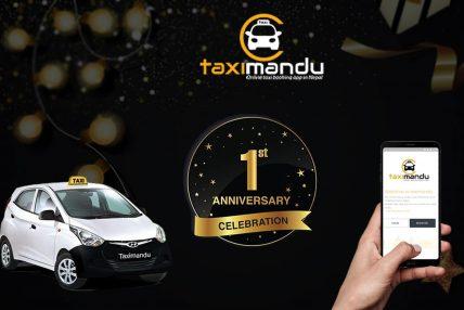 अनलाइन ट्याक्सी बुकिङ एप ट्याक्सीमाण्डुले ल्यायो वार्षिकोत्सवमा यस्तो अफर