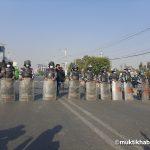 अनेरास्ववियूूद्वारा राजधानीको विभिन्न स्थानमा आधा घण्टा चक्काजाम(फोटोफिचर)